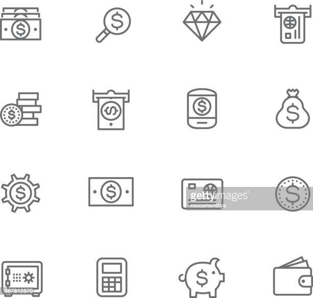 currency - us paper currency stock illustrations, clip art, cartoons, & icons
