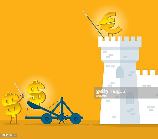 currency war - monetary policy stock illustrations