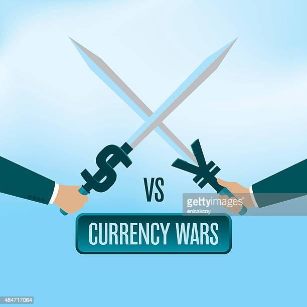 通貨戦争 - 中国元記号点のイラスト素材/クリップアート素材/マンガ素材/アイコン素材