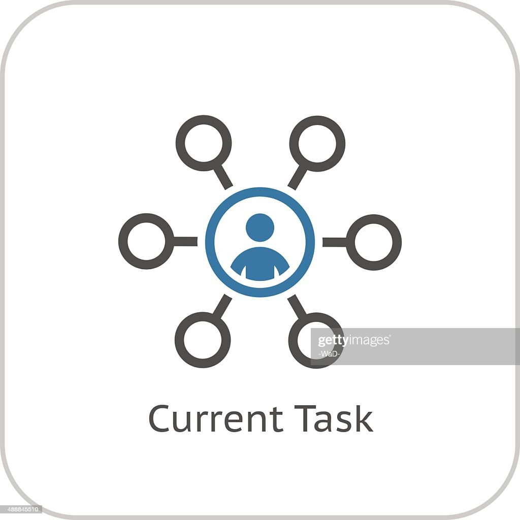 Current Tasks Icon. Business Concept. Flat Design.