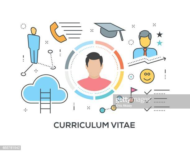 Curriculum Vitae Concept with icons