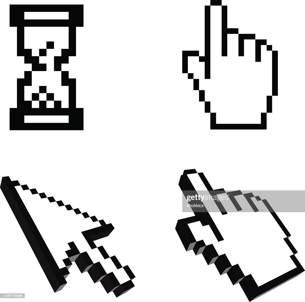 cursor and pointer icon set