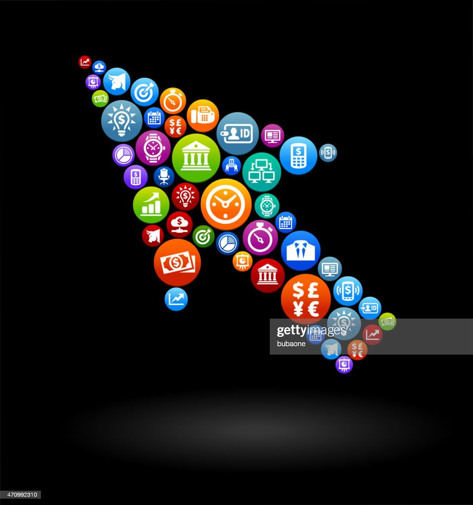 Cursor Business and Finance Vector Buttons Background : stock illustration