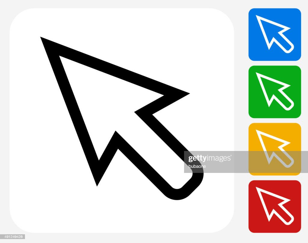 Cursor Icon Flat Graphic Design