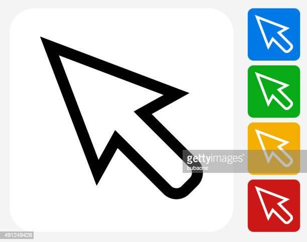 ilustrações, clipart, desenhos animados e ícones de cursor plana ícone de design gráfico - cursor
