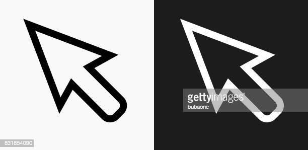 cursor icon on black and white vector backgrounds - cursor stock illustrations