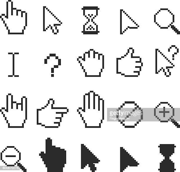 ilustrações, clipart, desenhos animados e ícones de cursor icon set - cursor