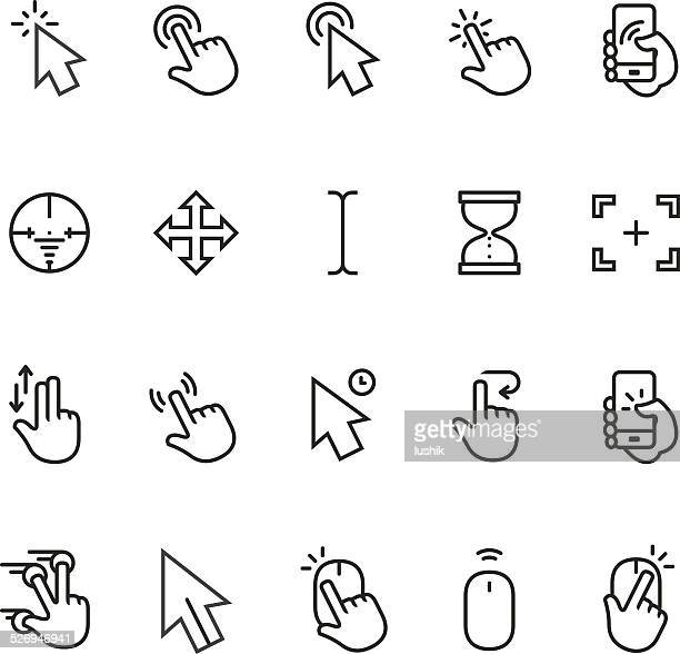 cursor icon - using phone stock illustrations