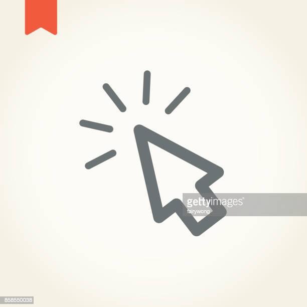 ilustrações, clipart, desenhos animados e ícones de cursor ícone - cursor