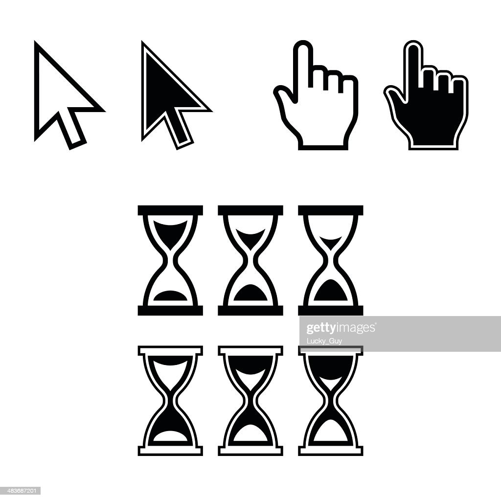 Cursor Icons. Mouse Pointer Set. Vector