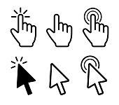 Cursor icons set. Mouse click. Vector