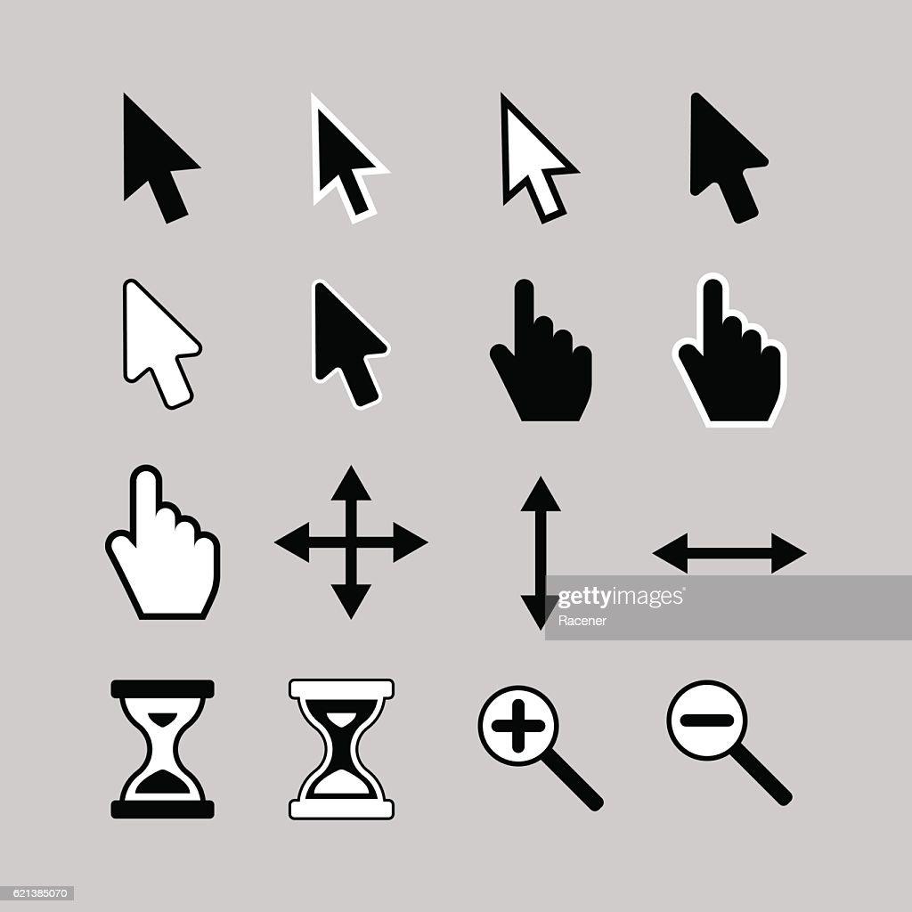 Cursor icons.