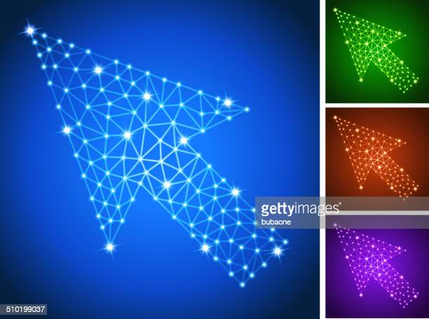 Cursor on triangular nodes connection structure vector art
