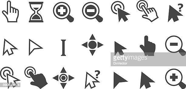 cursor pointer icons - interactivity stock illustrations, clip art, cartoons, & icons