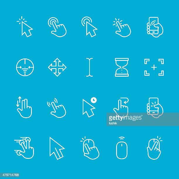 cursor vector collection - interactivity stock illustrations, clip art, cartoons, & icons