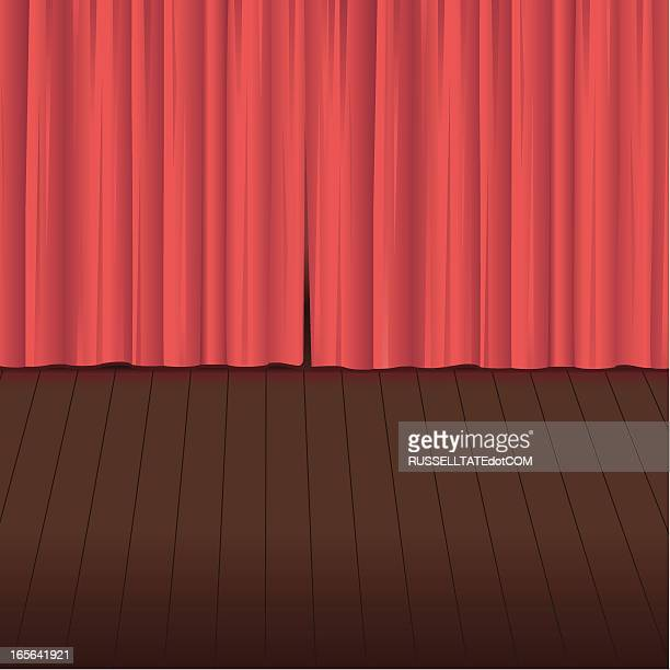 curtain call - floorboard stock illustrations, clip art, cartoons, & icons