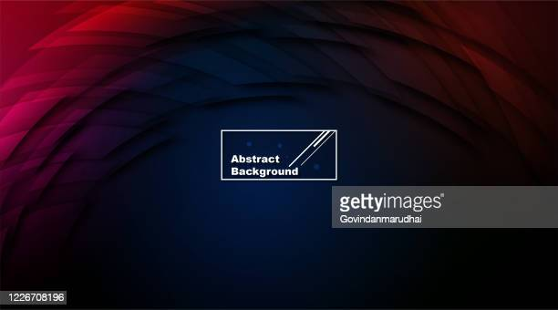 curve abstract dark blue and red background - red and blue background stock illustrations