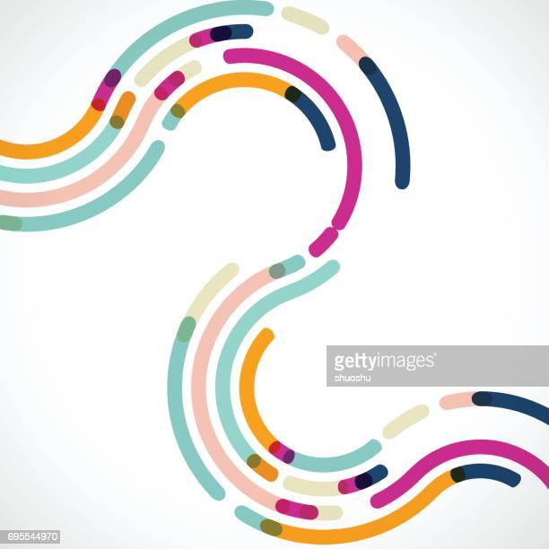 curve colorful stripe pattern background - line stock illustrations