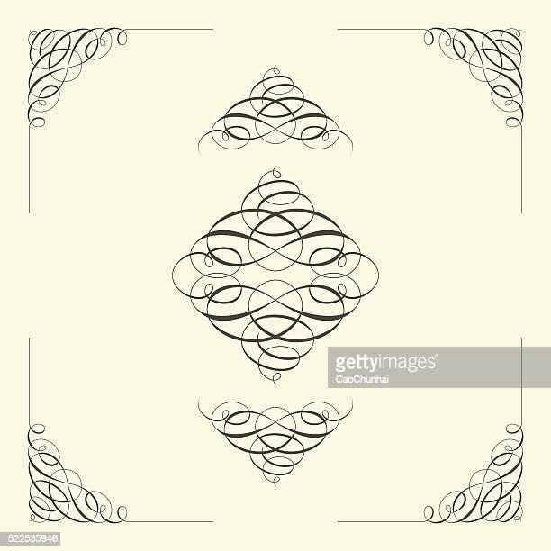 曲線デザイン要素 - 角点のイラスト素材/クリップアート素材/マンガ素材/アイコン素材