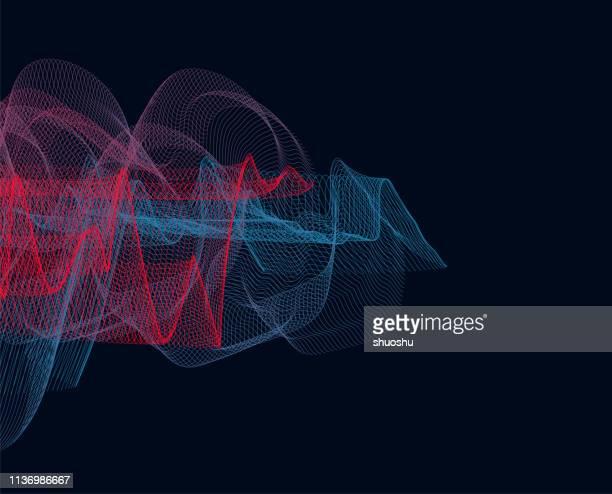 hintergrund der modell-gradiententechnologie der linie - elektrizität stock-grafiken, -clipart, -cartoons und -symbole