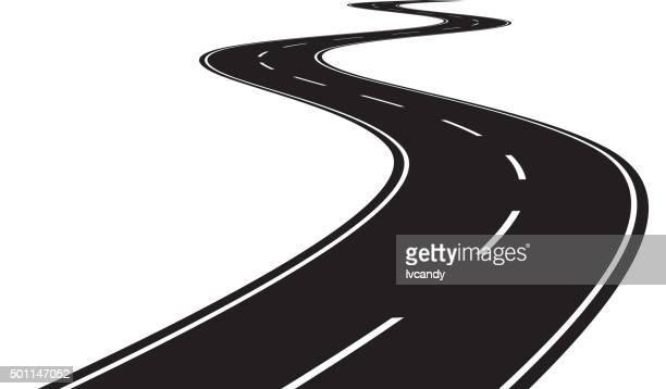 curve road - road stock illustrations