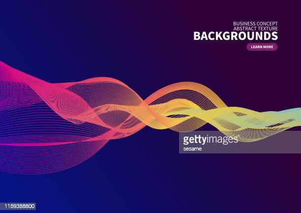 カーブベクトルの背景 - イノベーション点のイラスト素材/クリップアート素材/マンガ素材/アイコン素材