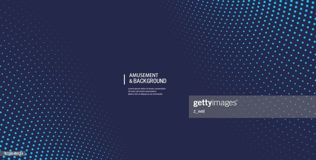 Curved particle background