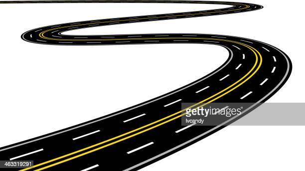Geschwungene road