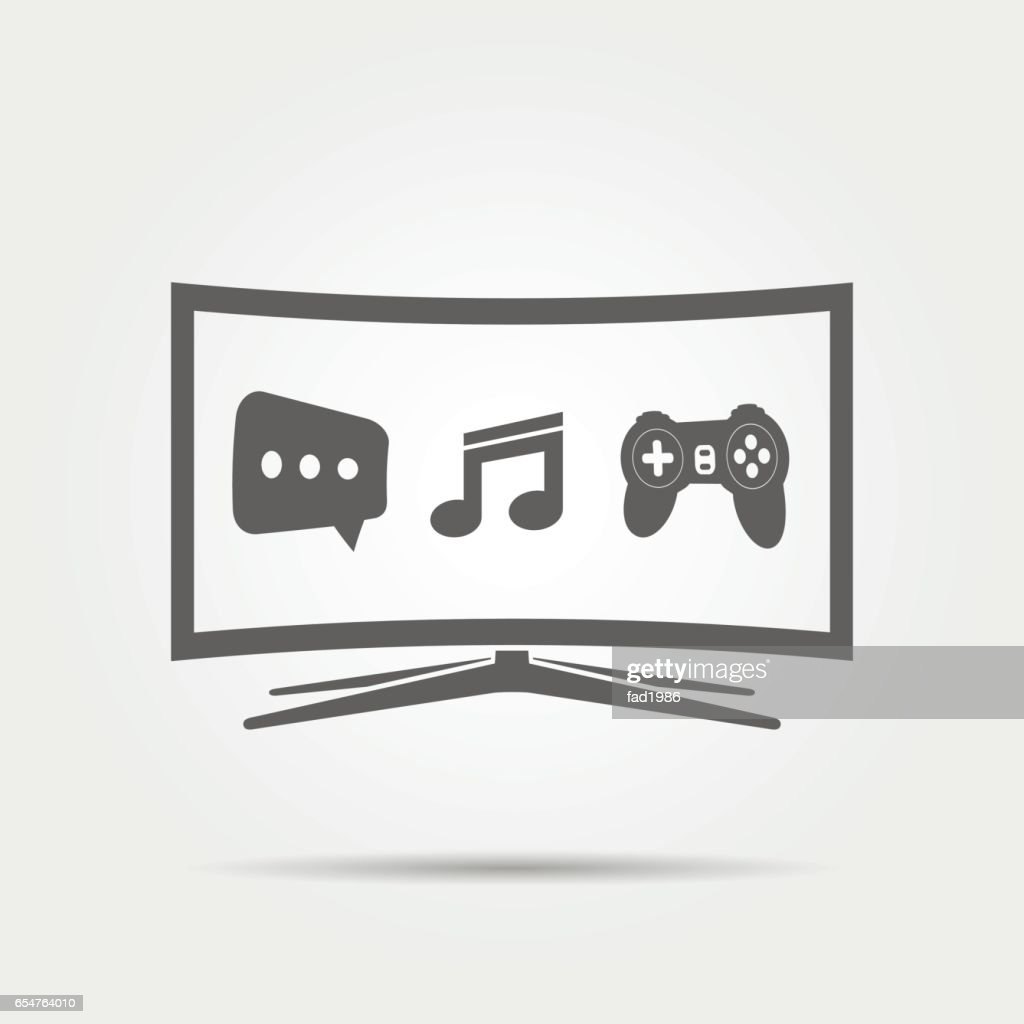 Curved Smart TV Icon