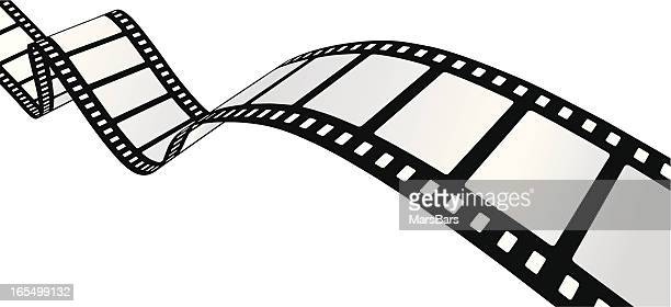 curvy filmstrip [vector] - film industry stock illustrations