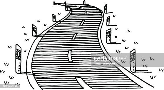 Curvy Road Drawing Vector Art | Getty Images
