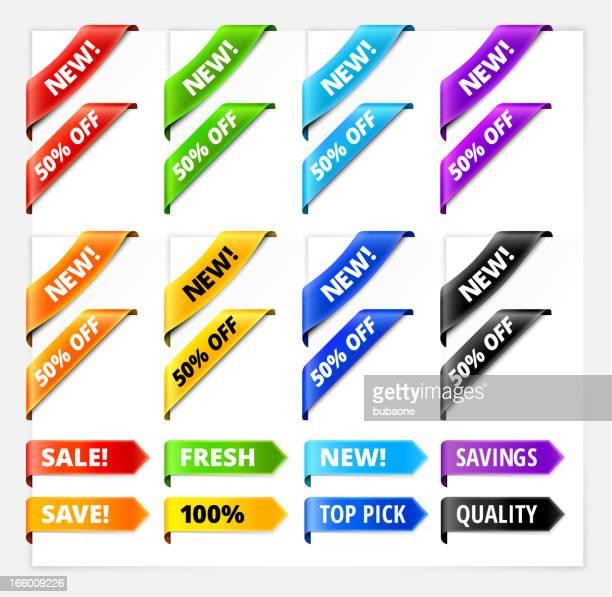 Custom Sale Tag Sign Ribbon Rag