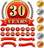 Custome Anniversary Badges