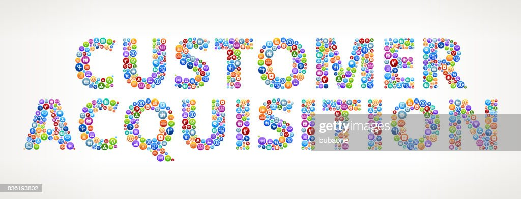 Customer Acquisition Business and Finance Vector Buttons : stock illustration