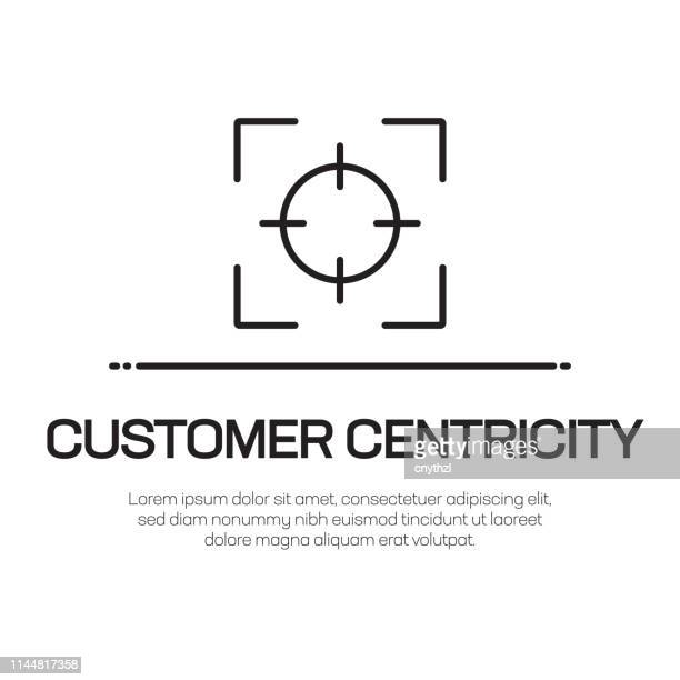 Customer Centricity Vector Line Icon - Simple Thin Line Icon, Premium Quality Design Element