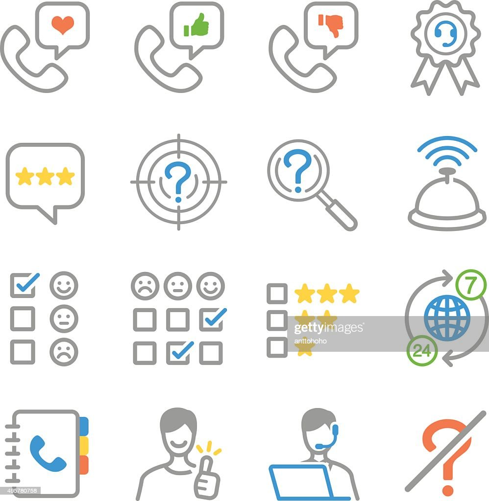 Customer feedback icons
