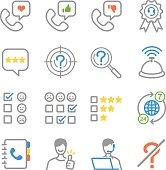 Customer feedback icons