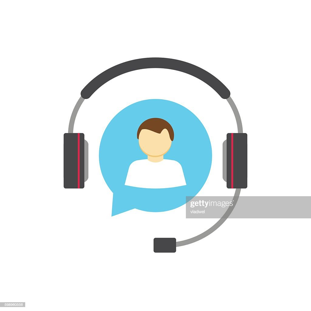 Customer help desk logo concept, support service vector icon isolated