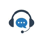 Customer helpline support icon concept vector illustration. Technical support icon concept. Online chat icon.
