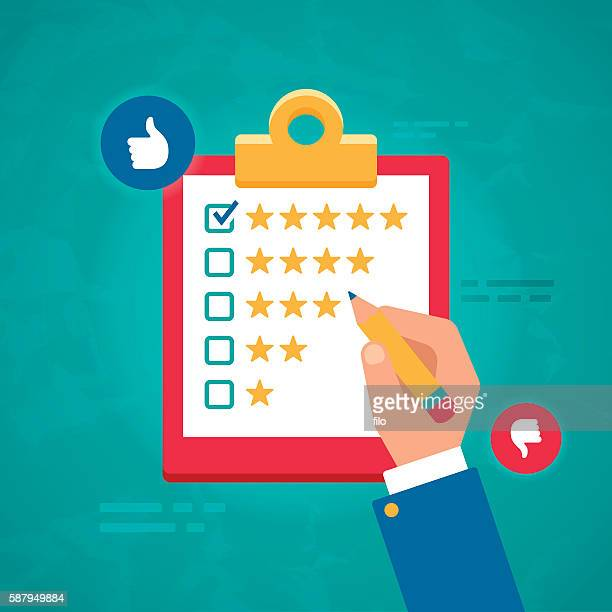 customer ratings and survey reviews - rating stock illustrations
