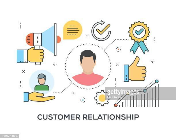 Customer Relationship Concept with icons