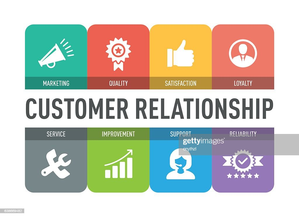 Customer Relationship Icon Set : stock illustration