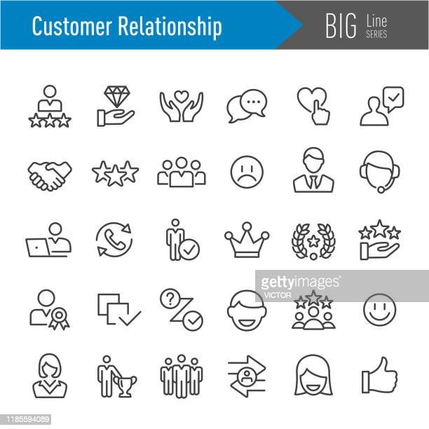 customer relationship icons - big line series - accessibility stock illustrations