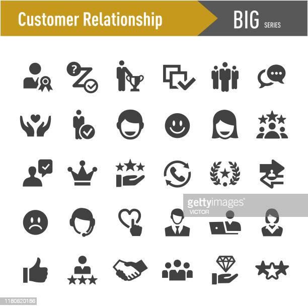 顧客関係アイコン - ビッグシリーズ - 品質点のイラスト素材/クリップアート素材/マンガ素材/アイコン素材