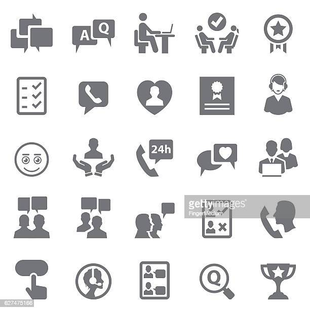 Customer relationship icons