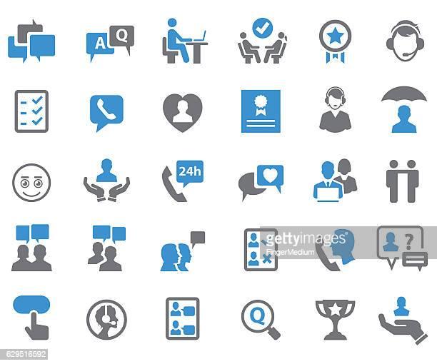 Customer relationship icons
