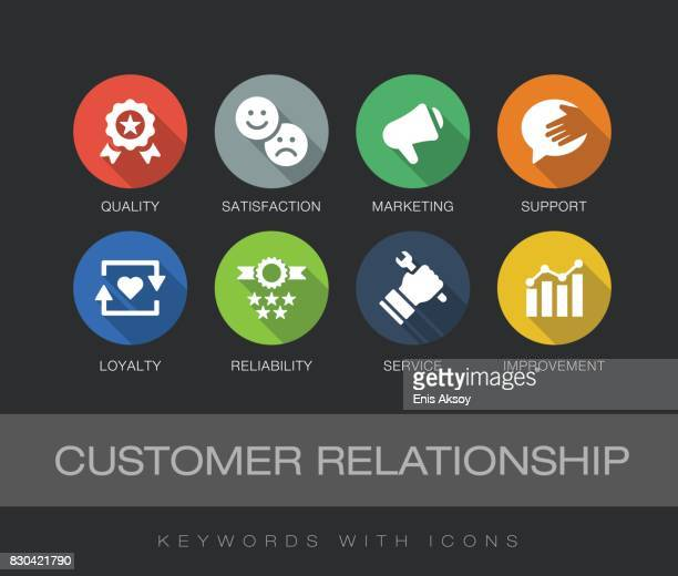 Customer Relationship keywords with icons