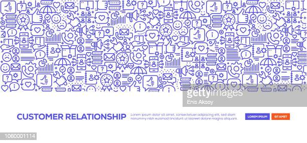 ilustraciones, imágenes clip art, dibujos animados e iconos de stock de bandera de gestión relación cliente - lealtad