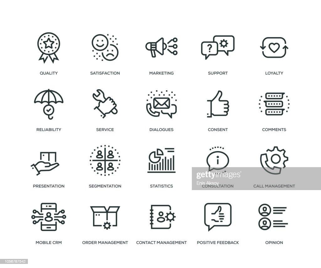 Customer Relationship Management Icons - Line Series : stock illustration