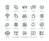 Customer Relationship Management Icons - Line Series